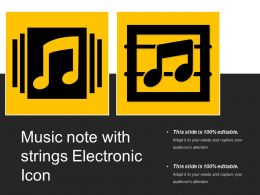 Music Note With Strings Electronic Icon
