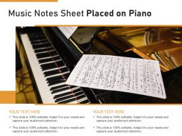Music Notes Sheet Placed On Piano