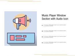 Music Player Window Section With Audio Icon