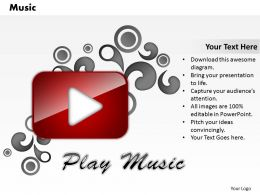 Music PowerPoint Template Slide