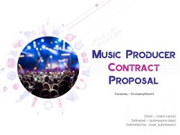 Music Producer Contract Proposal Powerpoint Presentation Slides