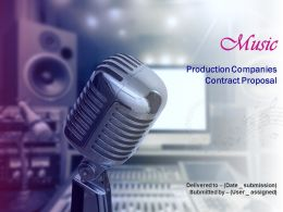 Music Production Companies Contract Proposal Powerpoint Presentation Slides