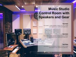 Music Studio Control Room With Speakers And Gear