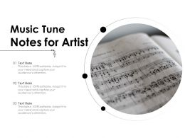 Music Tune Notes For Artist