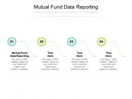 Mutual Fund Data Reporting Ppt Powerpoint Presentation Portfolio Clipart Cpb