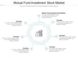 Mutual Fund Investment Stock Market Ppt Powerpoint Presentation Summary Examples Cpb