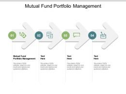 Mutual Fund Portfolio Management Ppt Powerpoint Presentation Ideas Topics Cpb
