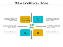Mutual Fund Revenue Sharing Ppt Powerpoint Presentation Infographic Template Diagrams Cpb