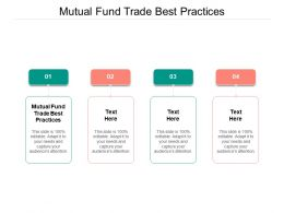 Mutual Fund Trade Best Practices Ppt Powerpoint Presentation Inspiration Elements Cpb