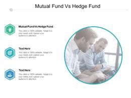 Mutual Fund Vs Hedge Fund Ppt Powerpoint Presentation Icon Slide Portrait Cpb