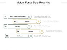 Mutual Funds Data Reporting Ppt Powerpoint Presentation Visual Aids Gallery Cpb