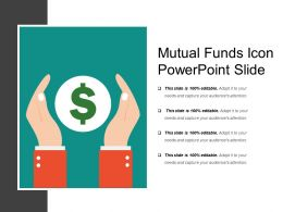 Mutual Funds Icon Powerpoint Slide