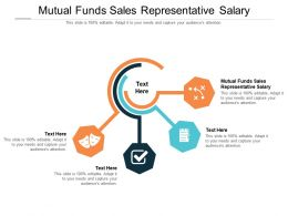 Mutual Funds Sales Representative Salary Ppt Powerpoint Presentation Styles Diagrams Cpb