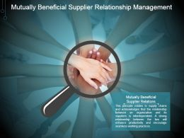 Mutually Beneficial Supplier Relationship Management Ppt Design Templates