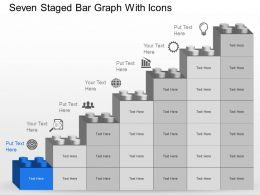 Mw Seven Staged Bar Graph With Icons Powerpoint Template Slide