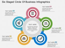 mw Six Staged Circle Of Business Infographics Flat Powerpoint Design