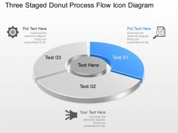 Mw Three Staged Donut Process Flow Icon Diagram Powerpoint Template Slide