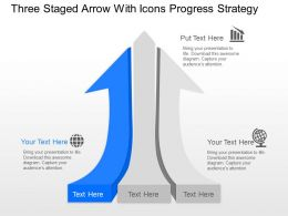 mx Three Staged Arrow With Icons Progress Strategy Powerpoint Template