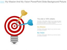 My Mission And My Vision Powerpoint Slide Background Picture