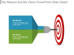My Mission And My Vision Powerpoint Slide Clipart