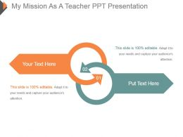 My Mission As A Teacher Ppt Presentation