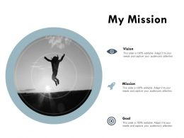 My Mission Vision Goal E168 Ppt Powerpoint Presentation Slides Model