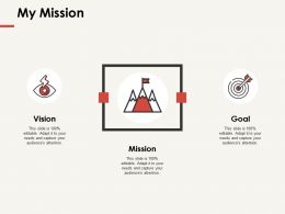 My Mission Vision Goal F290 Ppt Powerpoint Presentation Professional Aids