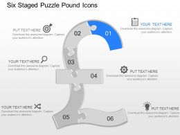 my Six Staged Puzzle Pound Icons Powerpoint Template