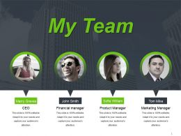 My Team Powerpoint Slide Designs