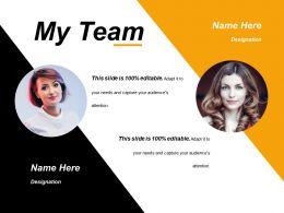 76867400 Style Essentials 1 Our Team 2 Piece Powerpoint Presentation Diagram Infographic Slide