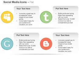 Myspace Tumbler Google Blogger Ppt Icons Graphics