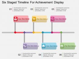 mz Six Staged Timeline For Achievement Display Flat Powerpoint Design