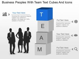 Na Business Peoples With Team Text Cubes And Icons Powerpoint Template