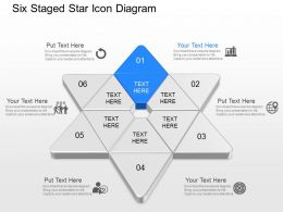 na Six Staged Star Icons Diagram Powerpoint Template