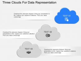 na Three Clouds For Data Representation Powerpoint Temptate