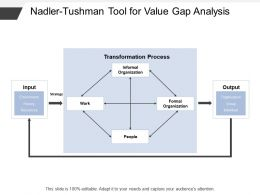 Nadler Tushman Tool For Value Gap Analysis