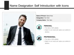 Name Designation Self Introduction With Icons