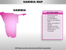 Namibia Country Powerpoint Maps