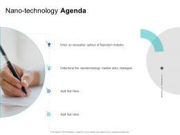 Nano Technology Agenda Determine M1381 Ppt Powerpoint Presentation Inspiration Layout
