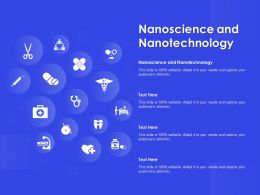 Nanoscience And Nanotechnology Ppt Powerpoint Presentation Infographic Template