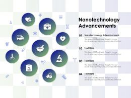 Nanotechnology Advancements Ppt Powerpoint Presentation Professional Grid