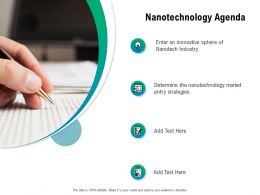Nanotechnology Agenda Ppt Powerpoint Presentation Pictures Images