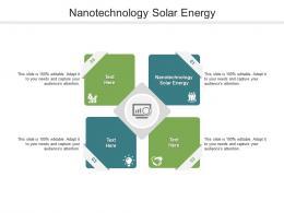 Nanotechnology Solar Energy Ppt Powerpoint Presentation Portfolio Slideshow Cpb