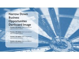 Narrow Down Business Opportunities Dartboard Image