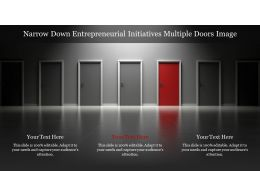 Narrow Down Entrepreneurial Initiatives Multiple Doors Image