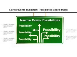 Narrow Down Investment Possibilities Board Image