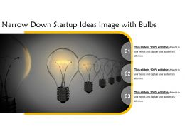 Narrow Down Startup Ideas Image With Bulbs