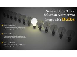 Narrow Down Trade Selection Alternatives Image With Bulbs
