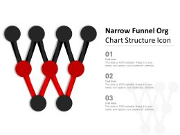 Narrow Funnel Org Chart Structure Icon