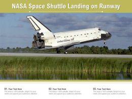 NASA Space Shuttle Landing On Runway